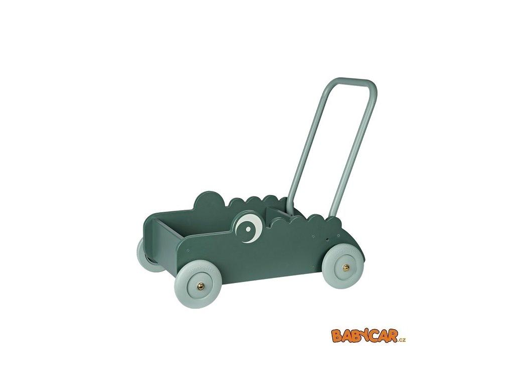 DONE BY DEER hračka WALKER na kolečkách CROCO Zelená