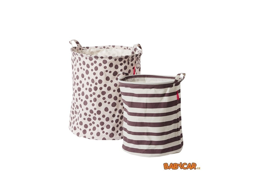 DONE BY DEER set měkkých odkládacích košíků 2ks Růžová