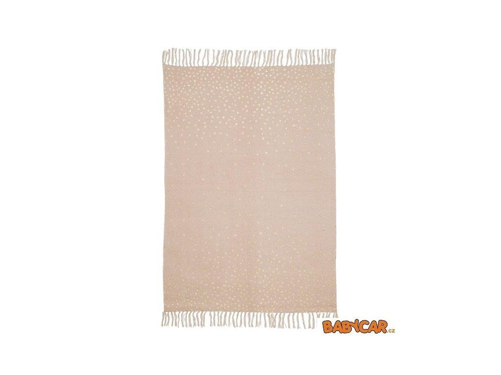 DONE BY DEER koberec 90x120cm Růžová/Zlatá