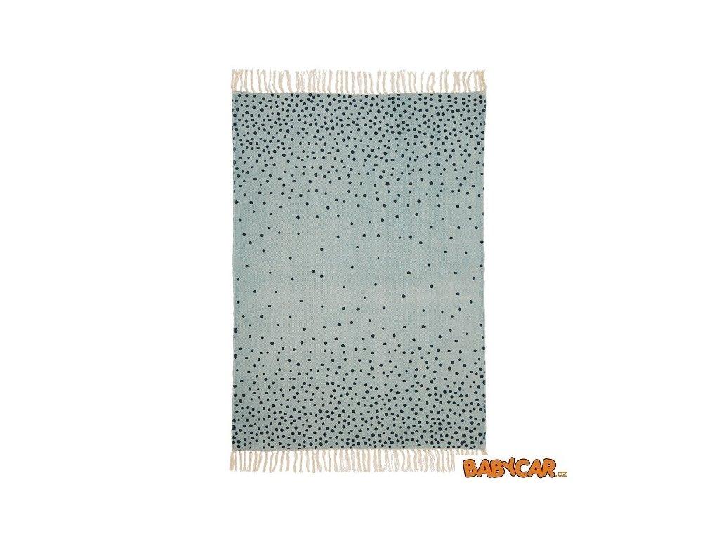 DONE BY DEER koberec 90x120cm Modrá