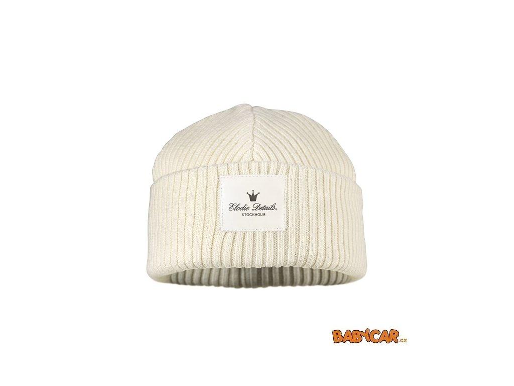 ELODIE DETAILS vlněná čepice WOOL CAP Vanilla White 6-12m DOPRODEJ!