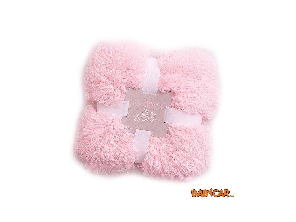 BIZZI GROWIN luxusní hebká deka KOOCHICOO Růžová
