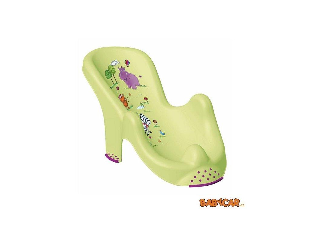 PRIMA BABY lehátko do vany HIPPO Zelená