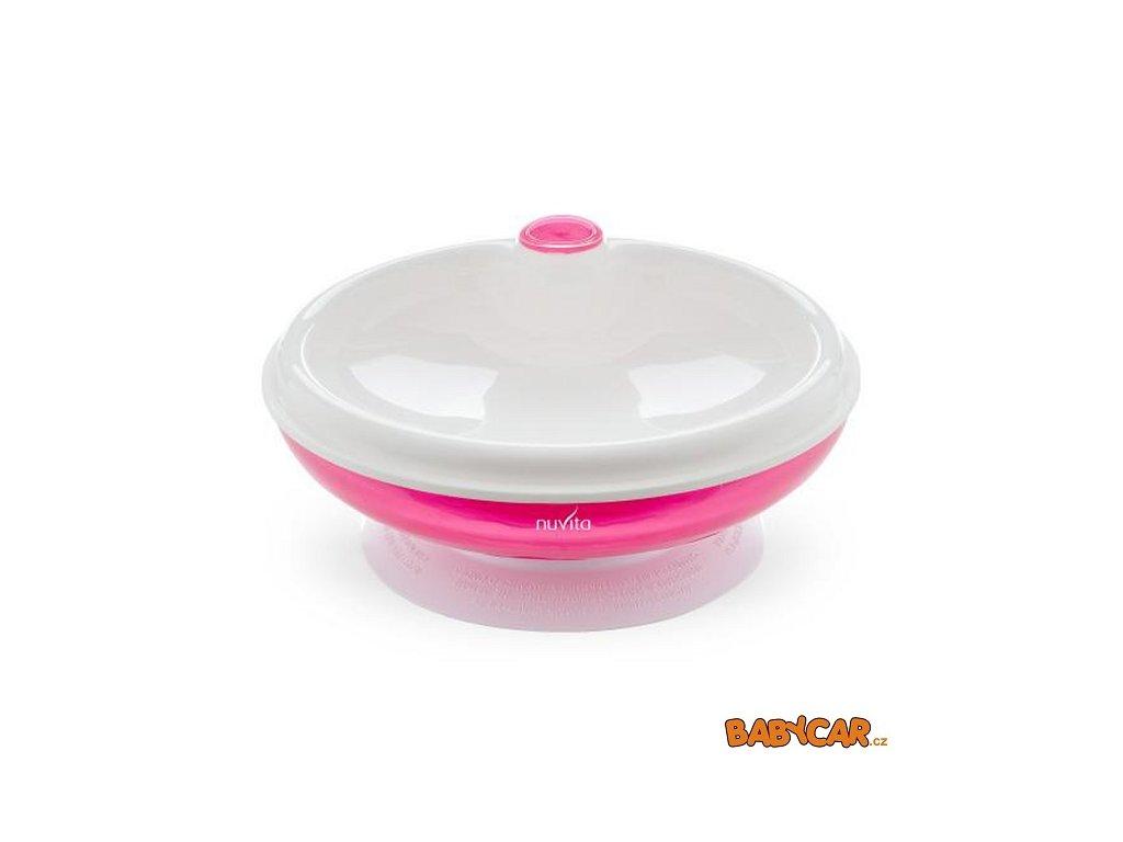 NUVITA ohřívací talířek s přísavkou Růžová DOPRODEJ!