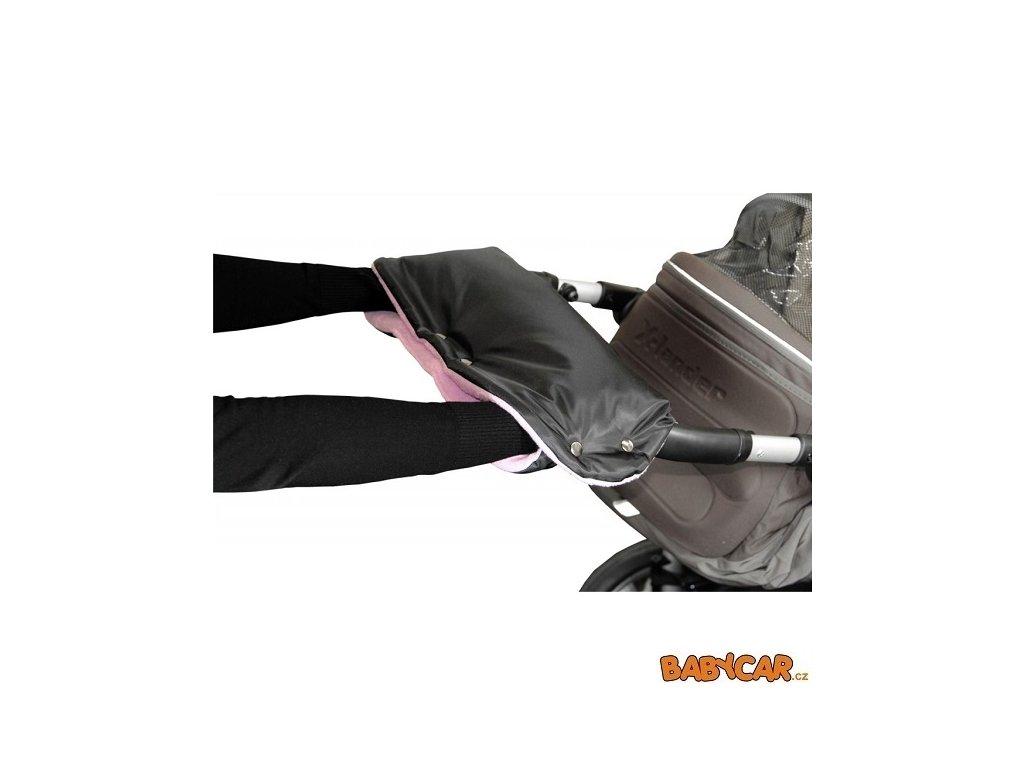 EMITEX rukávník ke kočárku Černá/Lila