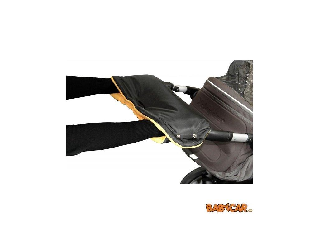 EMITEX rukávník ke kočárku Černá/Oranžová