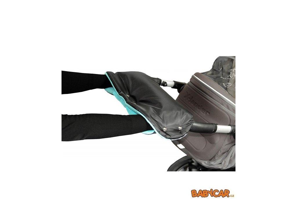 EMITEX rukávník ke kočárku Černá/Aqua