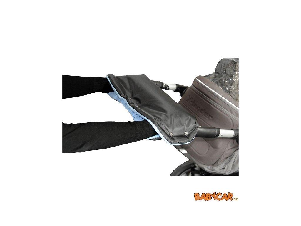 EMITEX rukávník ke kočárku Černá/Světle Modrá