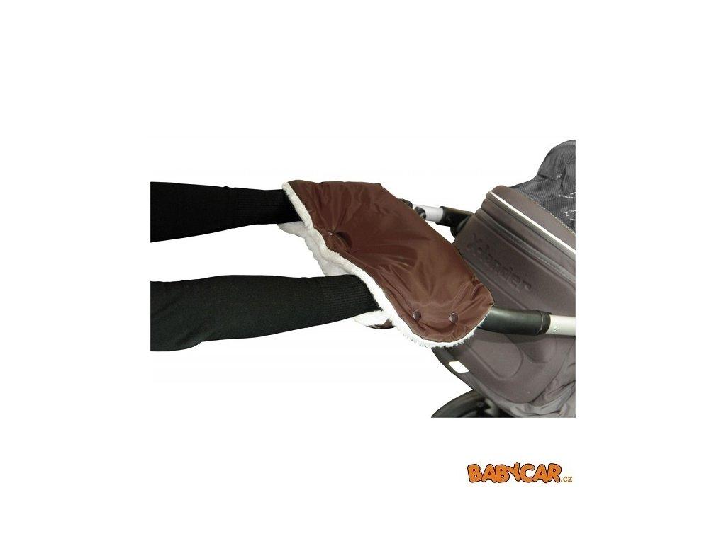 EMITEX rukávník ke kočárku Hnědá/Bílá Kožich