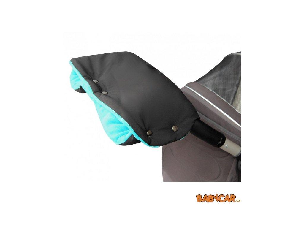 EMITEX rukávník ke kočárku PREMIUM Černá/Aqua