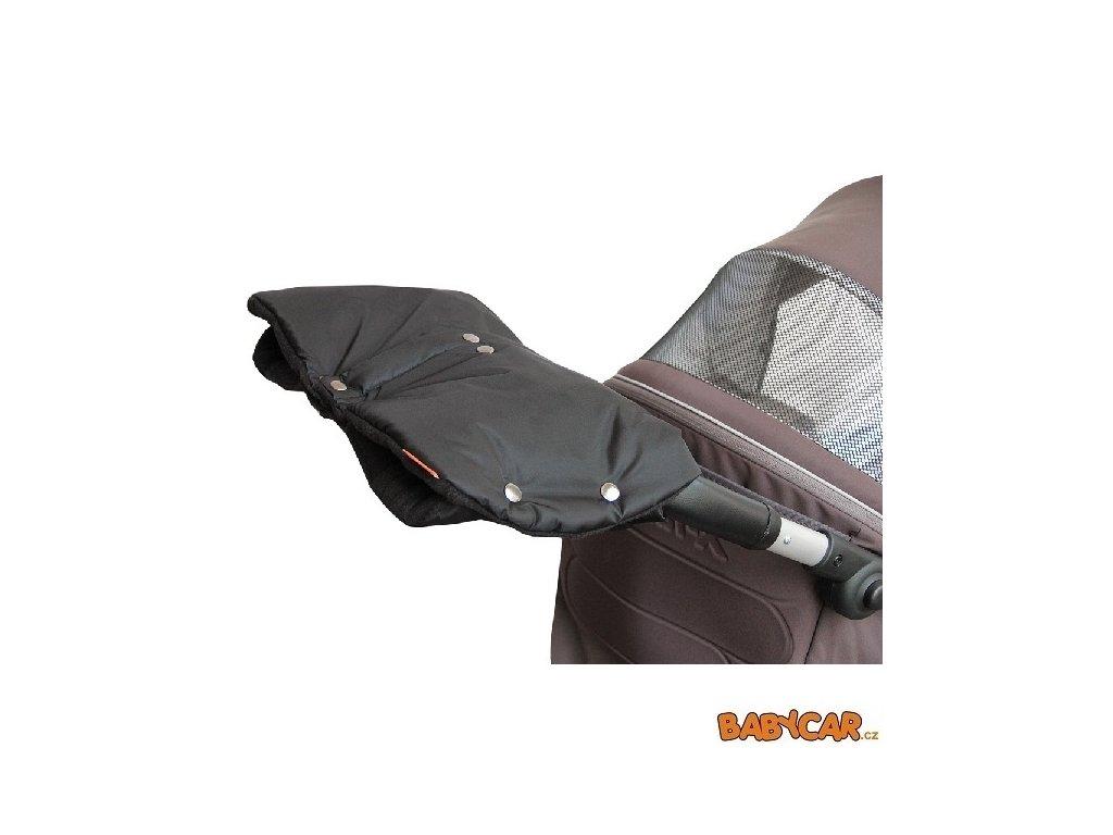EMITEX rukávník ke kočárku DUO 2v1 Černá/Černá