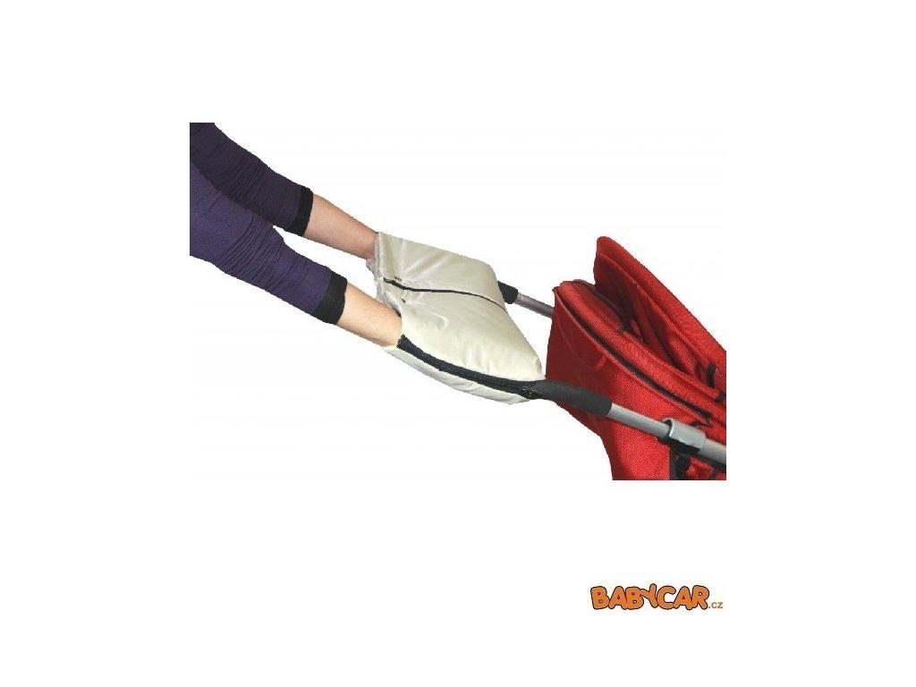 EMITEX rukávník ke kočárku DUO 2v1 Béžová/Světle Žlutá