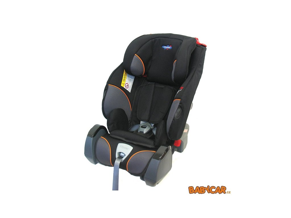 KLIPPAN autosedačka TRIOFIX RECLINE Black Orange