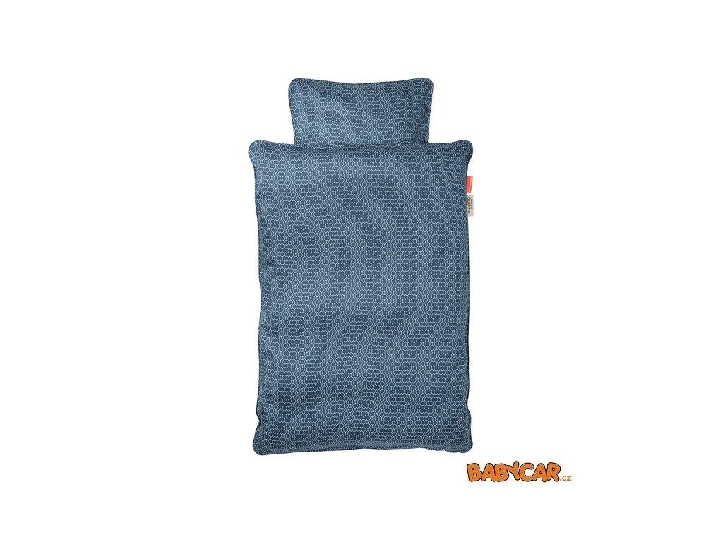 DONE BY DEER povlečení BALLOON 100x135cm/40x60cm Tmavě Modrá