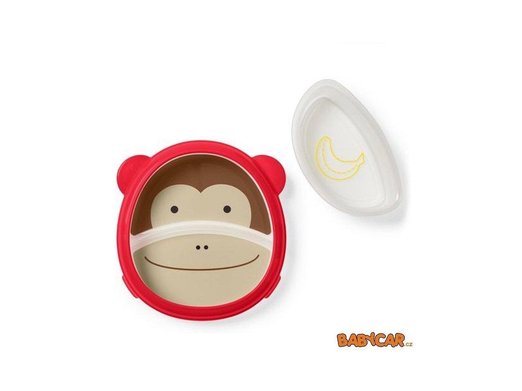 SKIP HOP talíř a miska 2v1 ZOO Opička