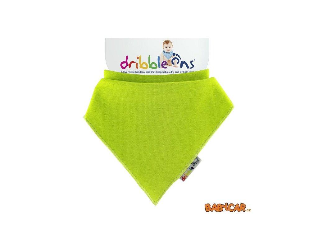DRIBBLE ONS slintáček/šátek BRIGHT Lime