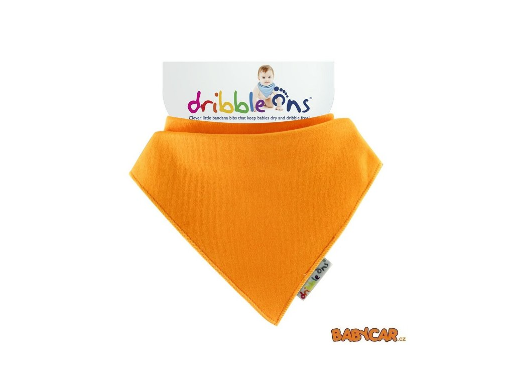 DRIBBLE ONS slintáček/šátek BRIGHT Orange