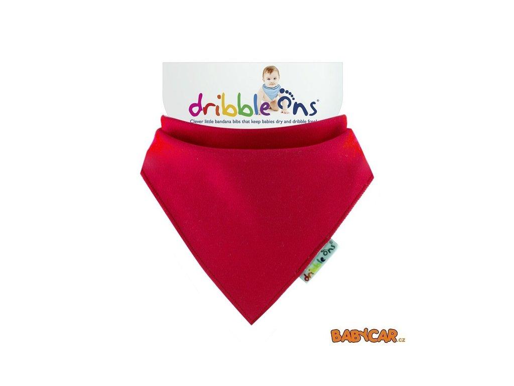 DRIBBLE ONS slintáček/šátek BRIGHT Red DOPRODEJ!