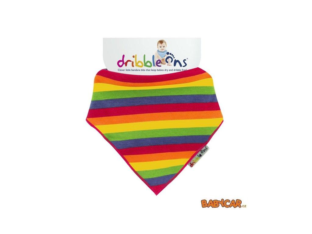 DRIBBLE ONS slintáček/šátek DESIGNER Rainbow