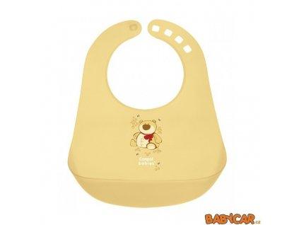 CANPOL BABIES plastový bryndák HAPPY ANIMALS Žlutá