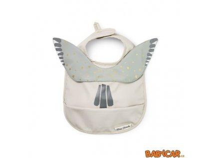 ELODIE DETAILS pogumovaný bryndák s kapsou BABY BIB Watercolor Wings DOPRODEJ!