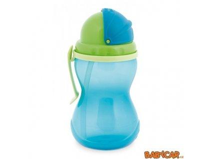 CANPOL BABIES sportovní láhev se slámkou Modrá/Zelená