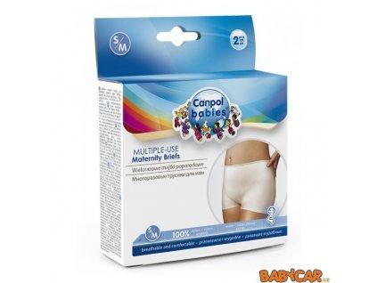 CANPOL BABIES multifunkční kalhotky po porodu 2ks S/M