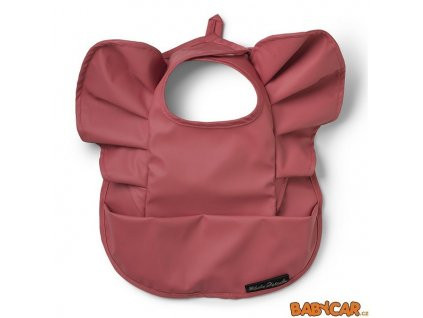 ELODIE DETAILS pogumovaný bryndák s kapsou BABY BIB Winter Blush Red DOPRODEJ!