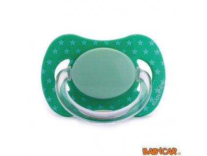 SUAVINÉX latexový dudlík FYZIOLOGICKÝ +0m, 1ks Zelená