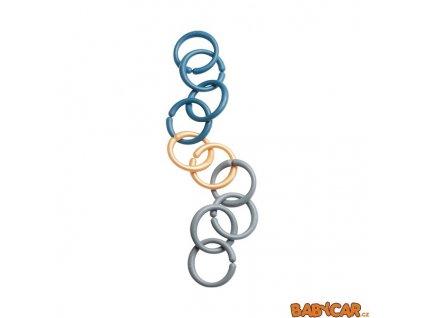 DONE BY DEER hrací kroužky/spona 10ks Modrá