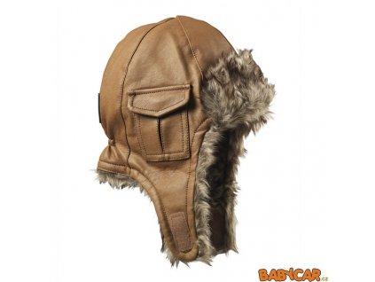 ELODIE DETAILS zimní čepice ušanka CAP Chestnut Leather 0-6m DOPRODEJ!