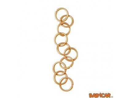 DONE BY DEER hrací kroužky/spona 10ks Zlatá