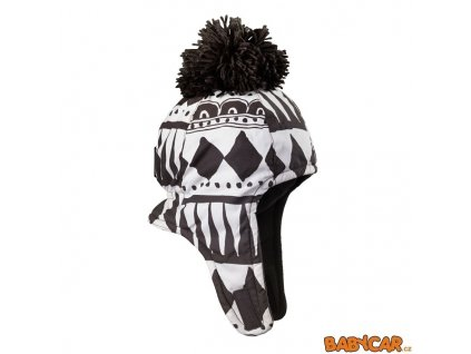 ELODIE DETAILS zimní čepice ušanka CAP Graphic Devotion 0-6m DOPRODEJ!