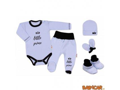 BABY NELLYS 5dílná soupravička do porodnice Princ/Modrá vel. 62