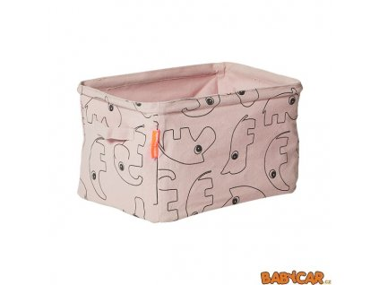 DONE BY DEER oboustranný měkký úložný košík Růžová