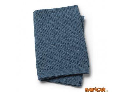 ELODIE DETAILS pletená deka MOSS-KNITTED BLANKET Tender Blue
