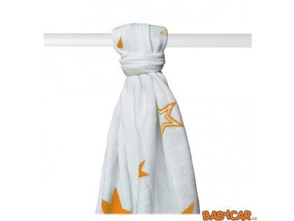 KIKKO bambusová osuška XKKO®BMB 90x100cm 1ks Orange Stars