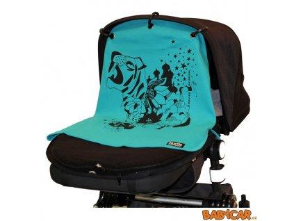 KURTIS BABY PEACE  sluneční clona/ záclonka na kočárek TIGER Turquoise DOPRODEJ!