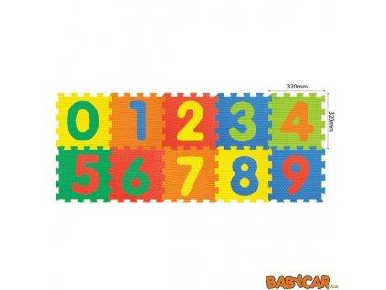 MADE pěnové puzzle 32x32cm 10ks Číslice