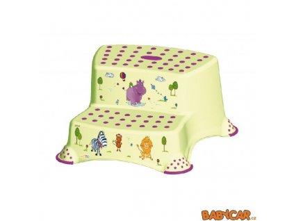 PRIMA BABY dvojstupínek k umyvadlu a WC HIPPO Zelená