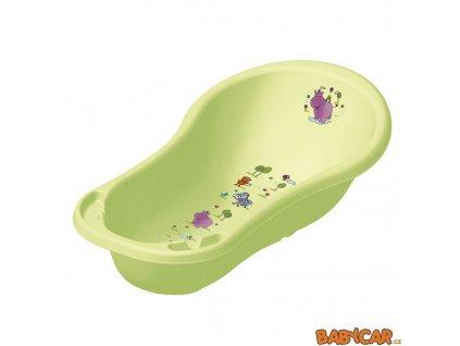 PRIMA BABY dětská vanička 100cm HIPPO Zelená