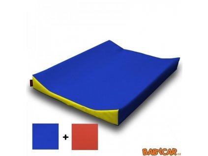 JECH přebalovací podložka MIMI 70x50x8 cm Tm.Modrá/ Oranžové čelo DOPRODEJ!
