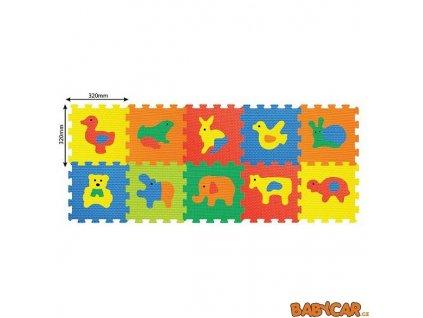 WIKY pěnové puzzle 30x30cm 10ks Zvířata