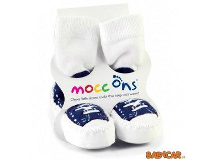 MoccOnsPonozkoveMokasinySneakersNavy