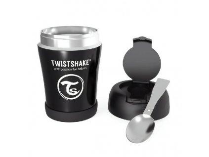 TWISTSHAKE termoska na jídlo Černá