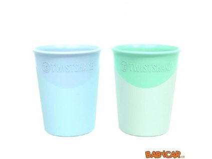 TWISTSHAKE kelímek 170ml 2ks Pastelově Modrá/Zelená