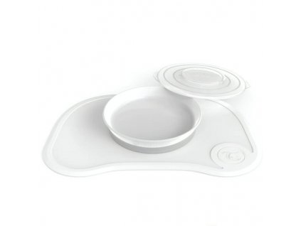 TWISTSHAKE protiskluzová podložka CLICK MAT + talíř +6m Bílá