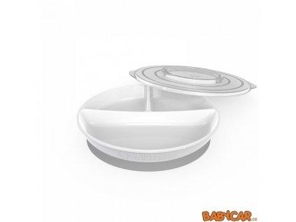 TWISTSHAKE dělený talíř +6m Bílá