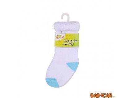 KIKKO ponožky FROTÉ TYP 58 12-18m Bílá/Modrá
