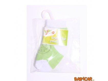 KIKKO ponožky FROTÉ TYP 57 6-12m Zelená/Bílá Medvídek